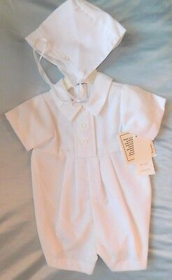 NWT Boys Romper Cotton BJ09RS Short Outfit  With Button Trim INVENTORY CLOSEOUT
