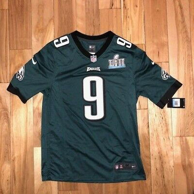 new arrival afb54 bdff4 NIKE NFL NICK Foles GREEN Jersey Philadelphia Eagles Super Bowl 52
