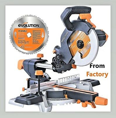 New! 2018 Evolution R210Sms 210Mm Single-Bevel Sliding Compound Mitre Saw 230V