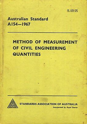 Australian Standard A154-1967  Methods of Measurement of Civil Engineering Quant