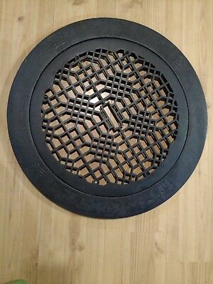 Antique Architectural Home Cast Iron Heating Floor Register Vent Grate 24.5""
