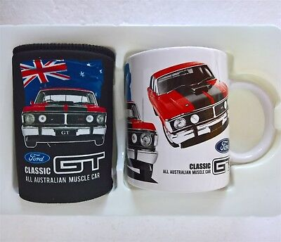~ Ford 351 GT XY HO Falcon - COFFEE MUG & STUBBY CAN HOLDER *Ford Stock No More*