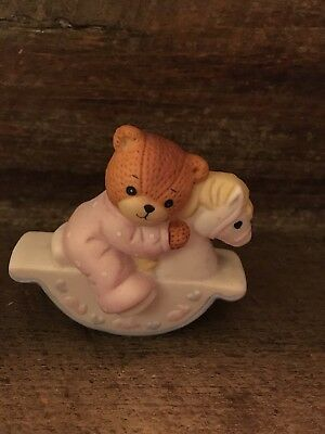 Lucy & Me Bear Figurine *Baby Bear on Rocking Horse* 1987