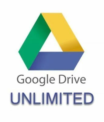 UNLIMITED Storage on Google Drive for your existing account