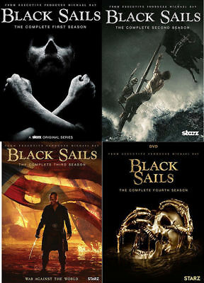 Black Sails:The Complete Series Season 1-4 (DVD ,12 Disc) 1 2 3 4 three four