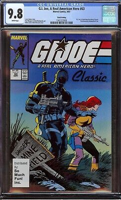 G.i.joe 63 Cgc 9.8 Smf So Much Fun Variant Highest Graded Holy Grail