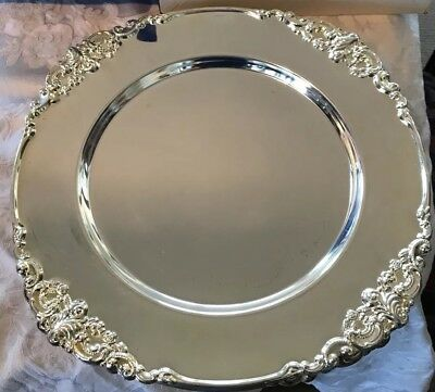 GODINGER 16 pc Silver Plate Charger Plates