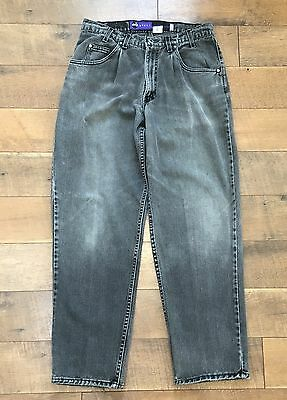 Vintage 80s Mens Levis Silver Tab Baggy Jeans Pleated Front USA MADE 33 x 32