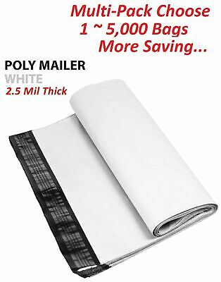 1-10-20-25-50-100 24x24 White Poly Mailers Shipping Envelopes Self Sealing Bags