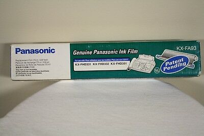 Genuine Panasonic Ink Film KX-FA93 For KX-FHD331 KX-FHD332 KX-FHD351 New