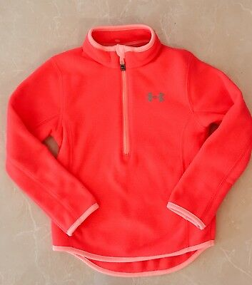 Girls Under Armour Fleece Pullover Size 4 Marathon Red
