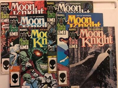Marvel Comics Moon Knight Fist of Khonshu #1-6 Copper Age 1985 Complete Run