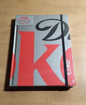 """Diet Coke Stay Extraordinary Hard Cover Notebook (8.5 x 6"""") NEW FACTORY SEALED"""