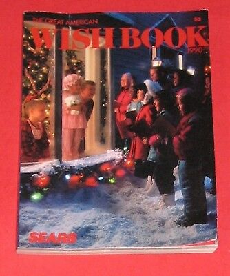 Sears Catalog 736 pgs.The Great American Christmas Wish book 1990 Toys Games