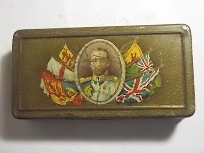 Old WW1 1915 Rowntree Chocolate Gift to Troops Tin. G
