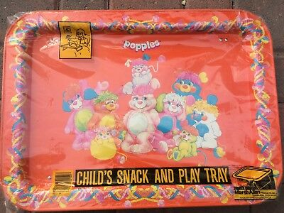 Vintage Unused 1986 Popples Tv Tray