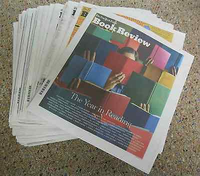 NY Times Book Review-2016-Lot of 51 Issues-January thru December-NEW!!
