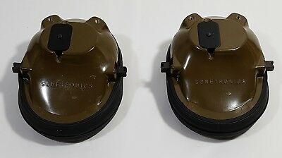 Lot of 2 Sonetronics Military Earphone & Cup Assembly 5965-21-867-8775 NEW