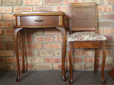 Queen Anne Side Table & Chair