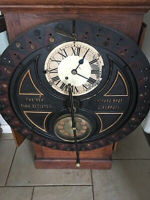 DEY TIME REGISTER CLOCK, sold as pictured