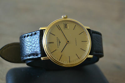 LONGINES AUTOMATIC CAL.L994.1 men's VINTAGE 18K YELLOW GOLD WATCH UHR, WITH DATE