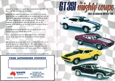 1/43 Biante Brochure GT 351 The Mighty Coupe XB/XC Falcon Coupe
