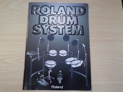 Roland drum system catalog from japan 1998
