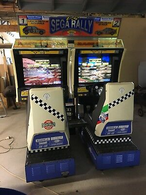 Sega Rally Twin Driving Arcade Machine Coin Op Will Freight