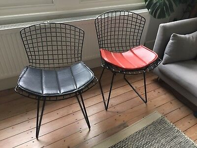 70's Vintage Knoll wire Harry Bertoia Diamond Side Eames Chairs *Pair* LONDON
