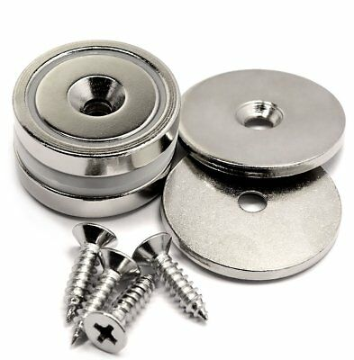 2PCS Powerful Magnet Neodymium Strong Holding 88Lb Mounted Metal Wall Door Tools