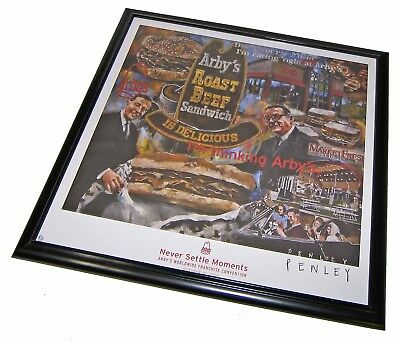 """【RARE】Framed """"Never Settle Moments"""" Limited Edition Penley Signed Arby's Print!"""