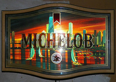 "Rare Vintage Michelob 3D Chicago Skyline Lighted Beer Sign ""LOCAL PICK UP ONLY"""