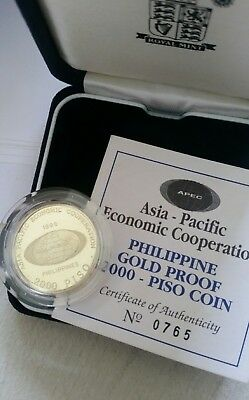 Gold Philippines 2000 piso limited edition