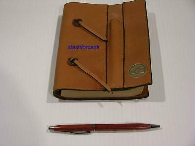 Rare Hess Leather Bound Journal with Pen!