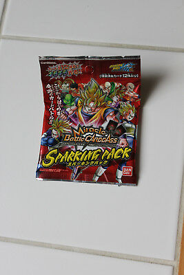 Miracle Battle Carddass Dragon Ball Z Sparking Pack 12 cartes cards DBZ