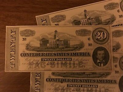 1870s - 1880s Dr. Morse's Indian Root Pills $20 Confederate Bill
