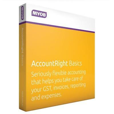 MYOB AccountRight Basics CD Full Licence No subscription fees MBFUL-RET-AU****