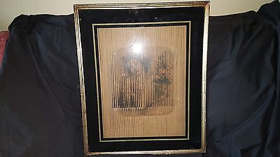 Rare early 19th Century Three Imagine Illusion Print Framed