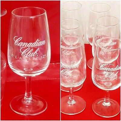 Canadian Club Classic Viticole Challenge Sample Glasses 4oz Snifter Testing 12PC