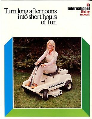 International Riding Mowers Turn long afternoons into short hours of fun
