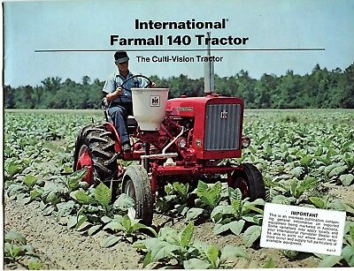 International Harvester 140 Tractor The Culti-Vision Tractor sales book