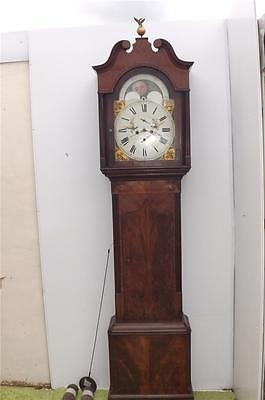 Grandfather clock 8 day moonroller George 111