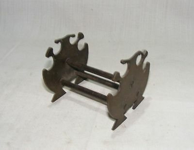 Old Vintage Original Casting Brass Heavy Pen Holder Stand Collectible