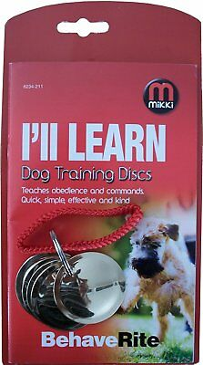 Mikki Dog Training Discs for Dog Obedience and Agility Easy Use Comfortable Pet