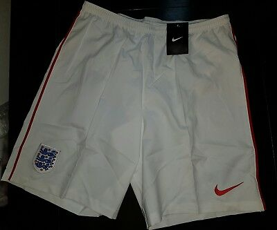 Nike England Shorts Mens Challenge white red Dri Fit Football Soccer gym size L