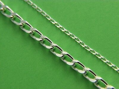 .925 Sterling Silver LONG Curb Chain Necklace Real Solid Silver Wholesale price