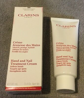 Clarins Hand And Nail Treatment Cream 100ml, New, Boxed And Sealed