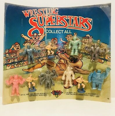 x10 WRESTLING SUPERSTARS Gumball in Packet/on Card like MUSCLE Boglins Exogini