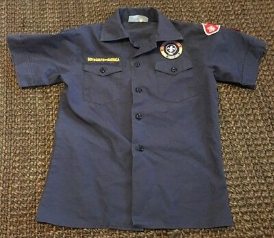 Bsa Boy Scouts Of America Navy Cub Scout Shirt~Youth Medium