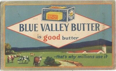 Chicago, IL Illinois  old Advertising Blotter, Blue Valley Butter